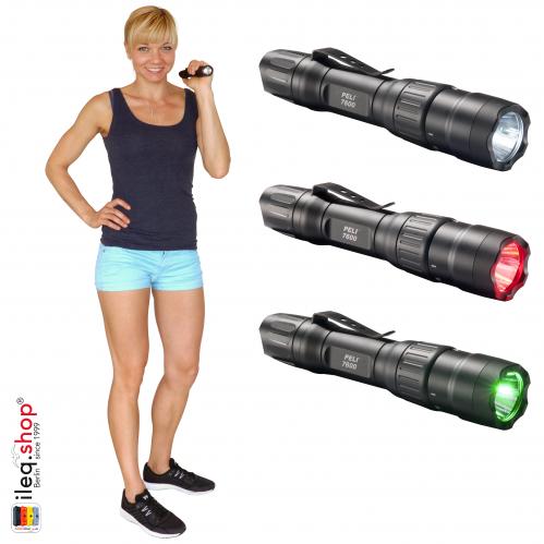7600 3-Color Taktische LED Taschenlampe