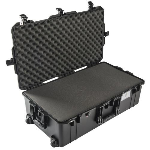 1615 AIR Check-In Koffer, PNP Schnallen, Mit Schaum, Schwarz