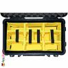 1510 Carry On Koffer, Mit Einteiler, Schwarz 5
