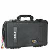1510 Carry On Koffer, Mit Einteiler, Schwarz 2
