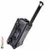 1510 Carry On Koffer, Mit Einteiler, Schwarz 4